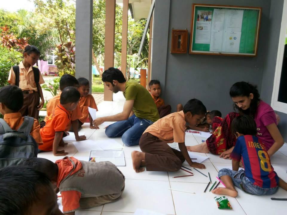 Internation volunteer trip with Westford University College in UAE